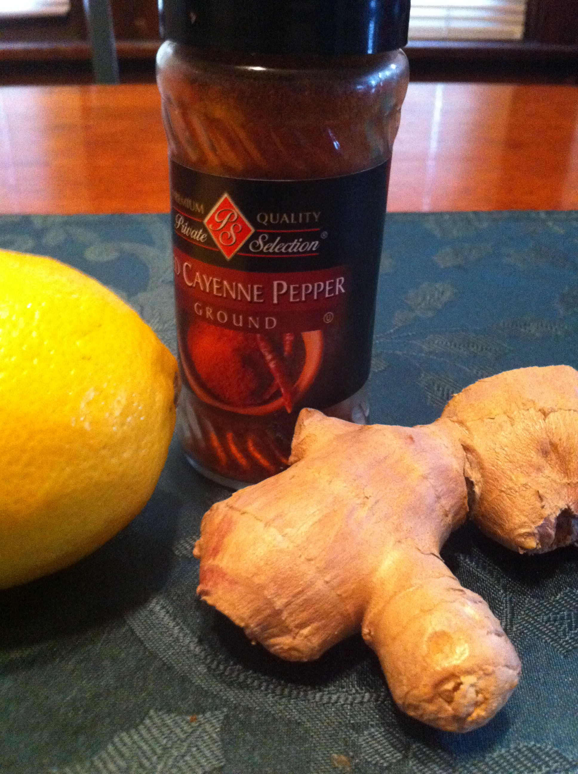 Ginger Lemon Cayenne Tea a Cold and Sore Throat Remedy